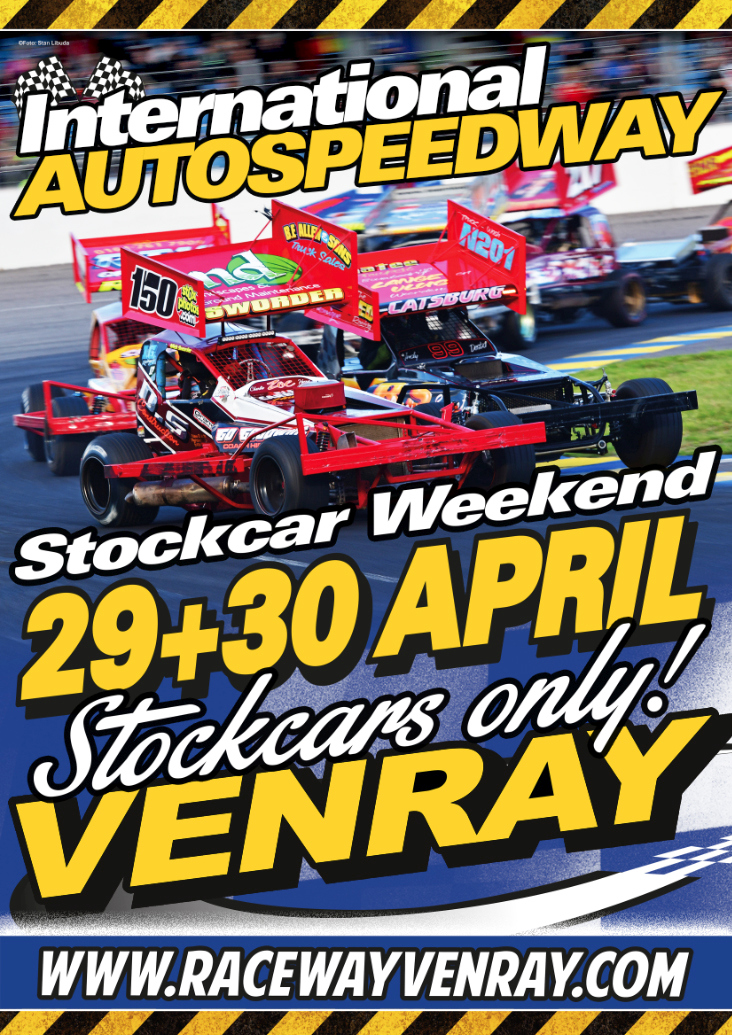 29 en 30 april Stockcar weekend - Stockcars only!